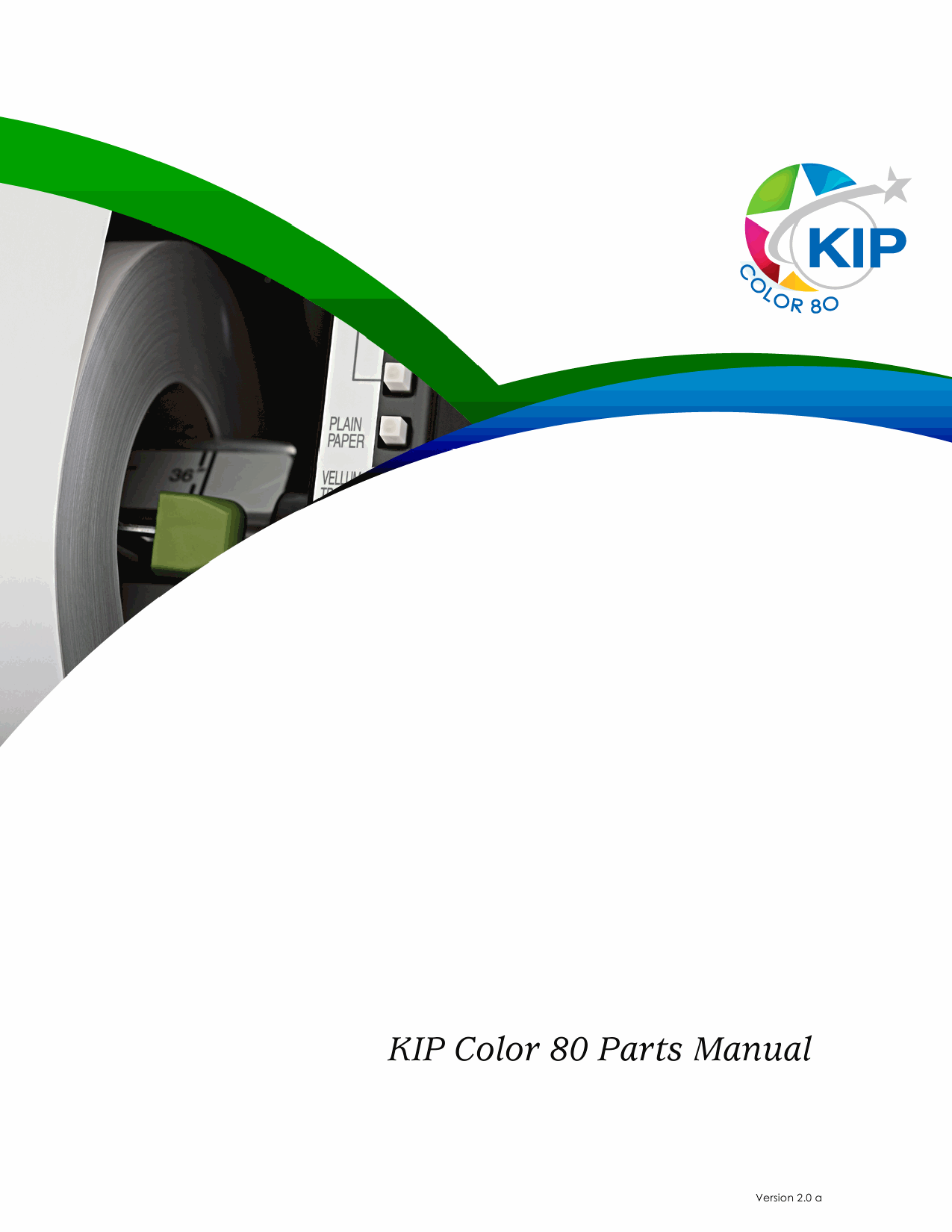 KIP Color 80 Parts Manual-1
